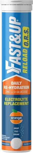 Fast&Up Reload ORS Electrolytes Hydration Drink With Zinc & D-Glucose - Orange Hydration Drink