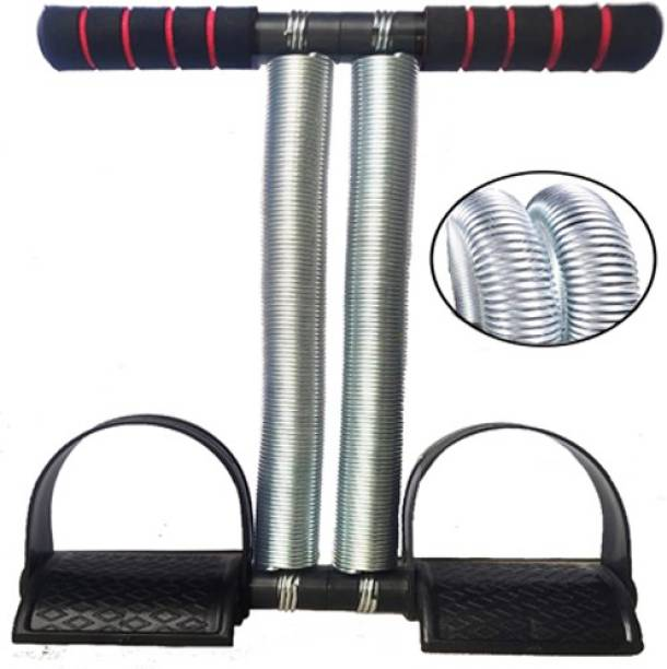AJRO DEAL Double Spring Tummy Trimmer - Multipurpose Fitness Equipment (Black) Ab Exerciser