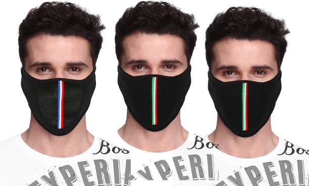 Aadikart Black Bike Face Mask for Men