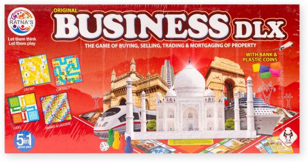 Ratnas 5 IN 1 BUSINESS BOARD GAME Strategy & War Games Board Game