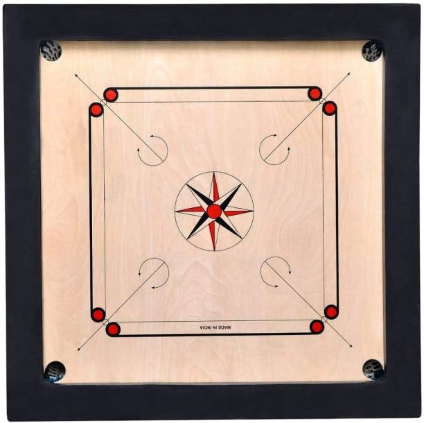 NAVRANGI ExtraLarge 36 Inch/ 3 Inch Border/ With Plastic Coins Carrom Board 88 cm Carrom Board
