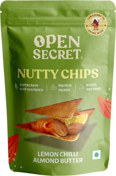 OPEN SECRET Nutty Lemon Chilli Almond Butter Chips
