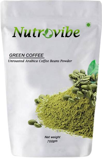 Nutrovibe Organic Green Coffee Beans Powder for Weight Loss Management Instant Coffee