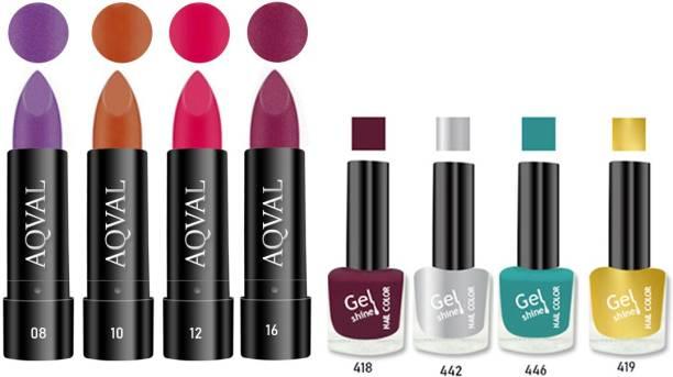 AQVAL Premium Combo Of Nail Polish And Matt Lipsticks110502021A22