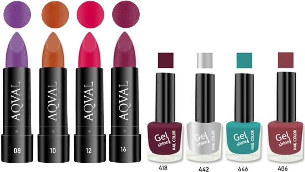 AQVAL Premium Combo Of Nail Polish And Matt Lipsticks110502021A20