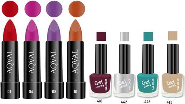 AQVAL Premium Combo Of Nail Polish And Matt Lipsticks110502021A5