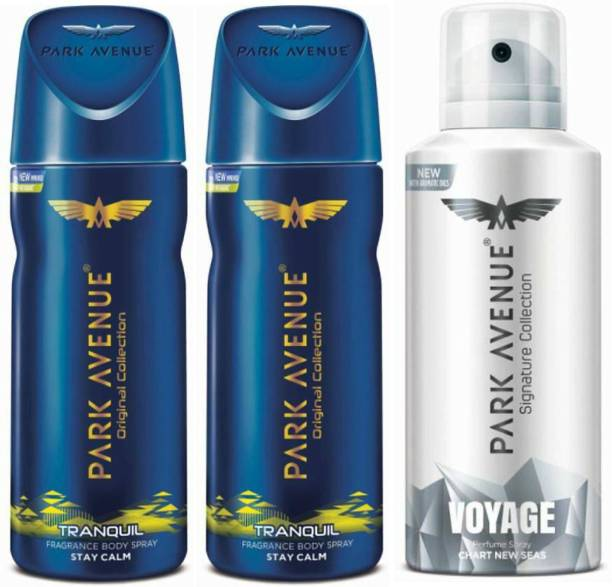 PARK AVENUE Two Tranquil, One Voyage Signature Deodorant Combo for Men(Pack of 4) Deodorant Spray  -  For Men