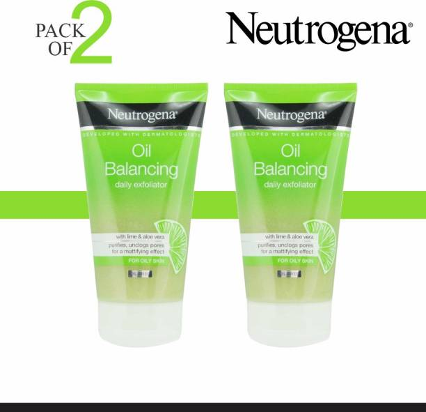 NEUTROGENA Oil Balancing Daily Exfoliator (Pack Of 2) Imported  (Made In France) Face Wash