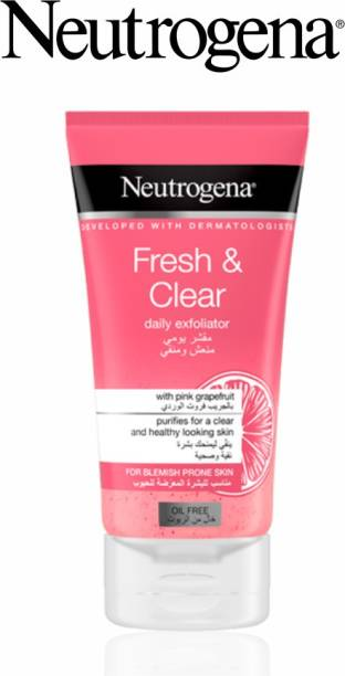 NEUTROGENA Fresh & Clear Daily Exfoliator (Pack Of 2) Imported  (Made In France) Face Wash