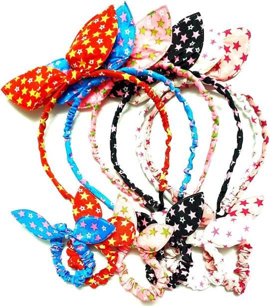 HOMEMATES multi-colored baby girl hairband headbands Style Rabbit Ear Tie Ponytail Holder Combo hair accessory set 12 PCS Hair Band