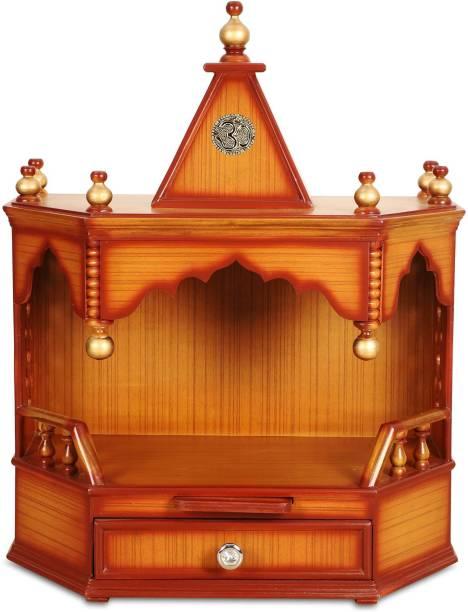 DZYN FURNITURES Pratishtha Pooja Solid Wood Home Temple