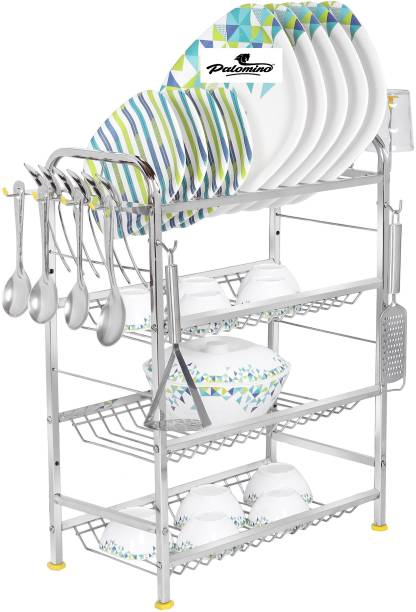 """PALOMINO Wall Mount Kitchen Dish Rack Plate Cutlery Stand/Kitchen Utensils Rack For Modern Kitchen Steel Kitchen Rack OPAL (24""""*18"""") Utensil Kitchen Rack"""