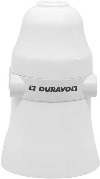 Duravolt Multi Pendant Bulb Holder with Female Plug Socket for Wall, Hanging B22 Batten Lamp Holder for Led/Electric Bulb for Home (White) Plastic Light Socket