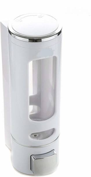 LOGGER - Cylindrical Multi Purpose Wall Mounted Liquid Soap Dispenser 400 ml Foam, Conditioner, Shampoo, Soap, Gel, Sanitizer Stand, Liquid, Lotion Dispenser