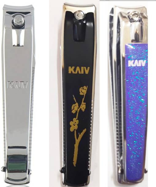 Kaiv large black+silver +purple nail cutter 03