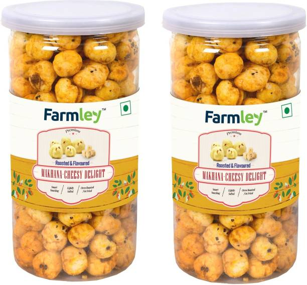Farmley Roasted & Flavored Makhana -Cheesy Delight 180G , (Pack of 2 Each 90g) Fox Nut