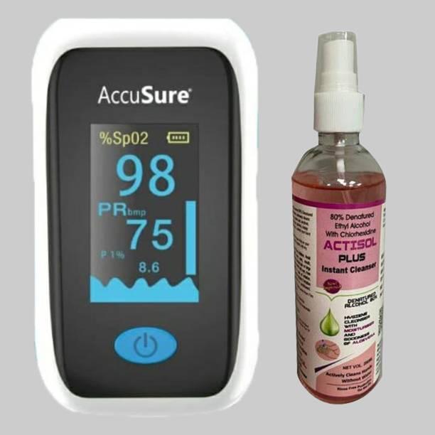 AccuSure Oximeter YK011 with Actisol plus 100 ml Pulse Oximeter