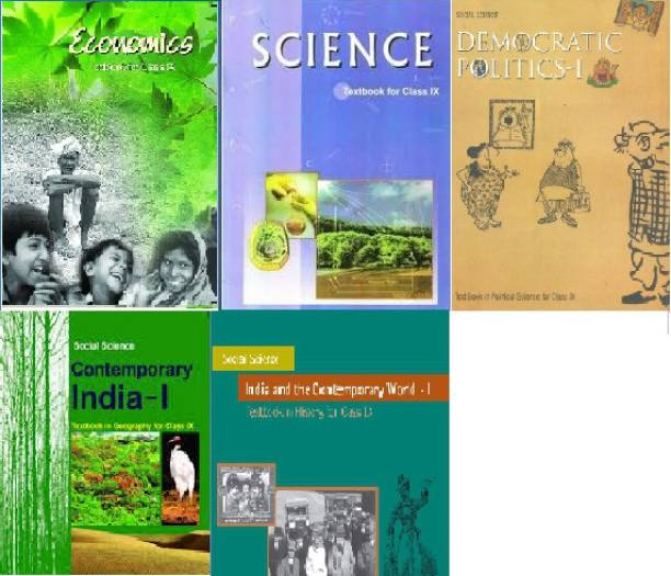 NCERT Books Set (SCIENCE AND SOCIAL SCIENCE COMPLETE BOOK) For Class 9 (English Medium) Set Of 5 Books Paperback ( NCERT )