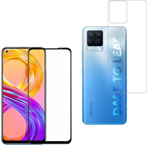 Vatsin Front and Back Tempered Glass for Realme 8, Realme 8 Pro