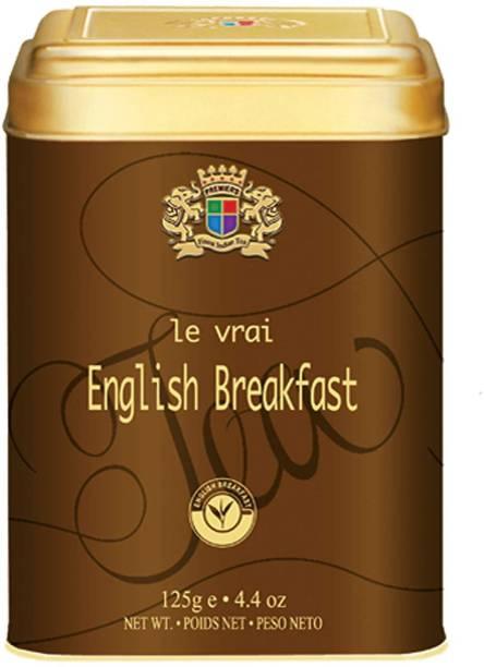 Premiers English Breakfast | 62 Cups | 125 Grams | PMS Loose Leaf Teas | PMS Tea Blend Tin