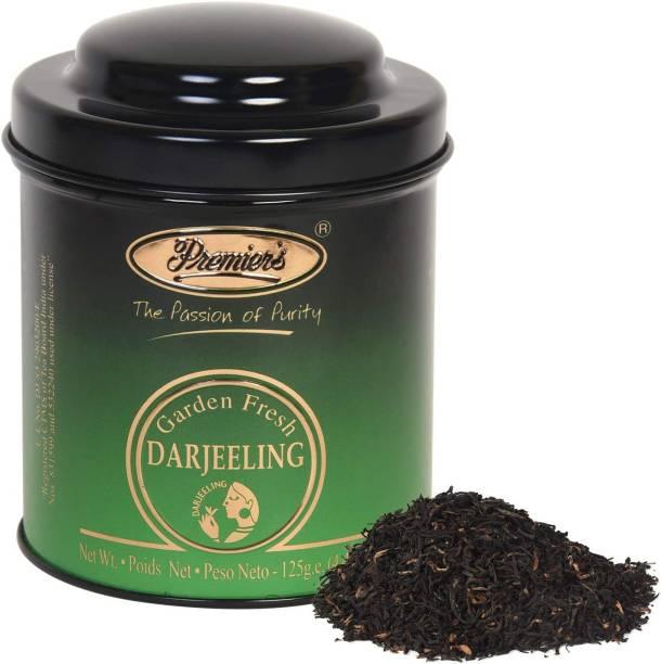 Premiers Darjeeling Black Tea | 62 Cups | 125 Grams | PM Metal Domed Caddy Unflavoured Black Tea Tin