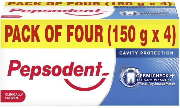 PEPSODENT Germicheck+ Cavity Protection Toothpaste, 150 g (Pack of 4) Toothpaste