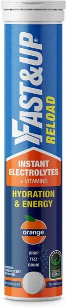 Fast&Up Reload Electrolytes,Energy & Hydration Drink (Effervescent Tablets)-Orange Energy Drink