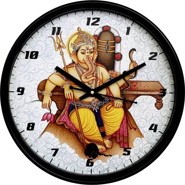 DivineCrafts Analog 28 cm X 28 cm Wall Clock