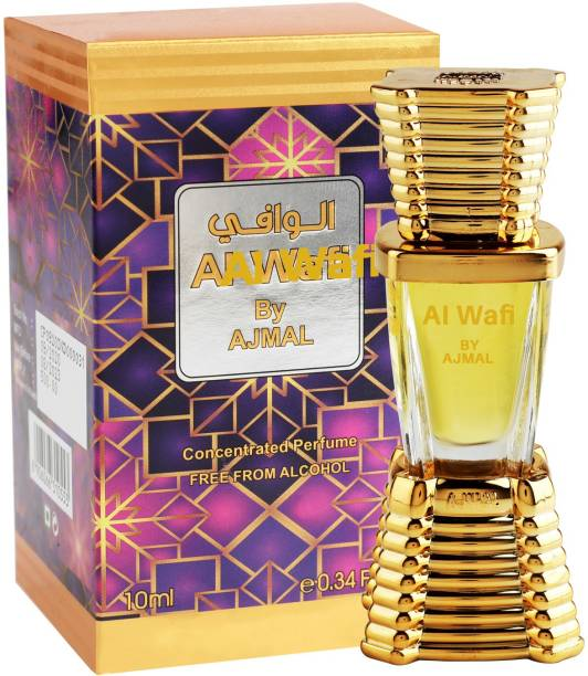 Ajmal Al-Wafi Concentrated Perfume Oil 10ml Attar for Men & Women + 2 Parfum Testers Floral Attar