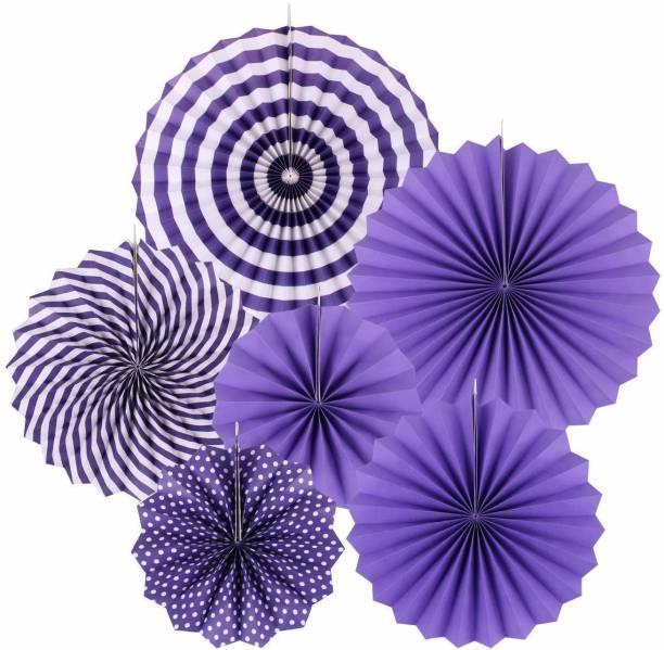 7 Season's Purple Paper Decoration Fans