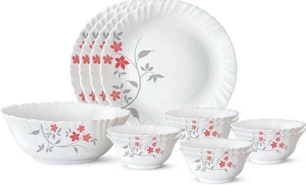 Larah by Borosil Pack of 13 Opalware Rosalie Dinner Set
