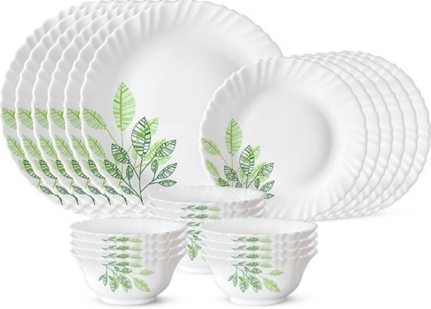 Larah by Borosil Pack of 24 Opalware Fauna Dinner Set