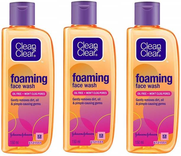 Clean & Clear Foaming  For Oily Skin Face Wash