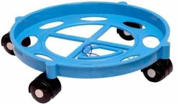 Dhrumi Gas Cylinder Trolley with Wheels | | LPG Cylinder Stand (Blue) Gas Cylinder Trolley (Blue) Gas Cylinder Trolley