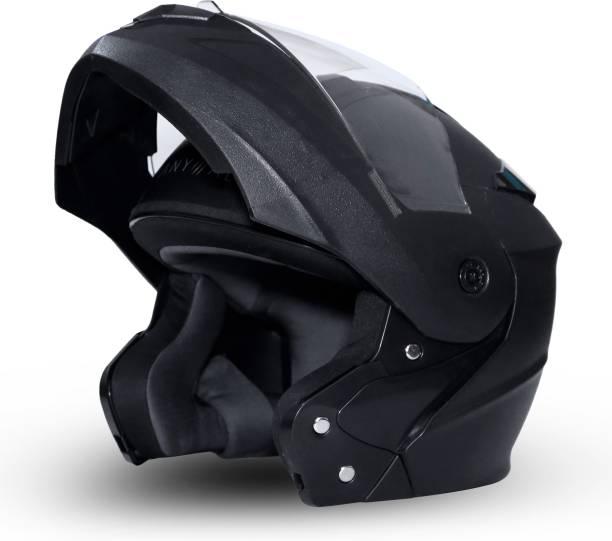 GoMechanic Anymal Series- Eagle Flip-Up with Clear Visor Motorsports Helmet