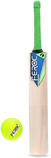 FEROC Junior Cricket Bat Size 3 For Age Group 8 Years with 1 Piece Tennis Ball Cricket Kit