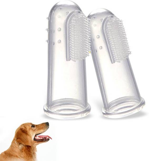 Jariso Oral Care Pet Finger Toothbrush for Dog and Cat, Pack of 2 Pet Toothbrush Pet Toothbrush