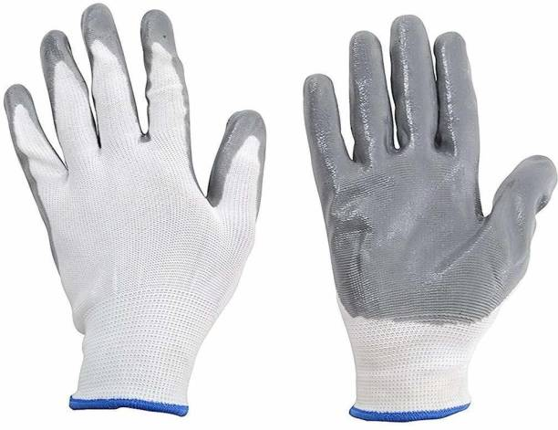 Pacificdeals Safety Reusable Washable Hand Glove Regulars Uses Cotton Knitted Seamless For Covid- 19 Protection, Cleaning Home Office Industry Men Women (Pack Of 1) Polyester  Safety Gloves