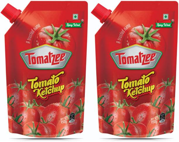 spicy wind PURE RED tomato sauce & ketchup Tomatzee 950 X 2 = 1900 g Pouch Ketchup