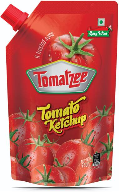 spicy wind PURE RED tomato sauce & ketchup Tomatzee 950 g Pouch Ketchup