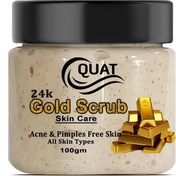 QUAT 24K Gold Scrub Skin Care Acne & Pimples Free Skin Scrub (100 g) Scrub
