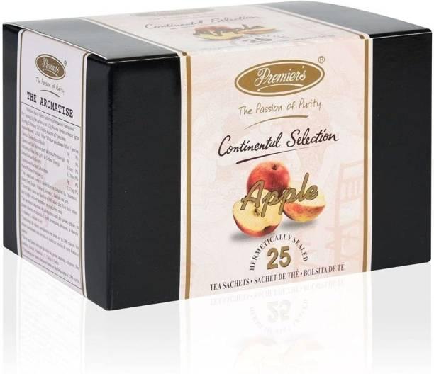 Premiers Apple Tea | Brew Hot or Iced | Flavored | 25 Cups | 50 Grams | Tea Bags Apple Tea Bags Box