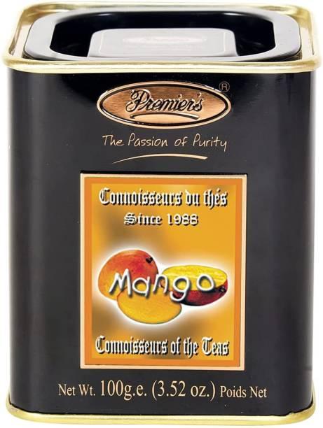 Premiers Mango Flavoured Tea | 50 Cups | 100 Grams | PMSS Loose Leaf Tea Tea Tin