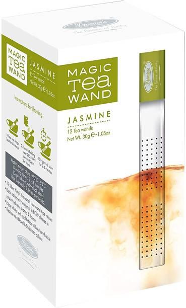 Premiers Jasmine Green Tea | 12 Cups | 30 Grams | Silver Magic Tea Wands Jasmine Tea Box