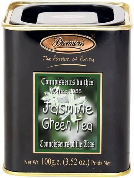 Premiers Green Tea with Jasmine | 50 Cups | 100 Grams | PMSS Loose Leaf Tea Jasmine Tea Tin