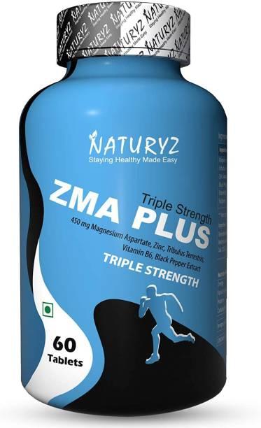 NATURYZ Triple Strength ZMA Plus supplement with Magnesium, Tribulus & other Ingredients