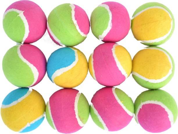 ESCOBAR Rubber/Tennis Ball for Cricket ( Pack of 12 ) Cricket Rubber Ball