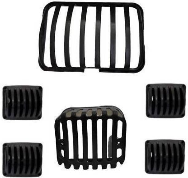 AUTOSCAPES Plastic Black H Full Cover 06_02 Bike Headlight Grill