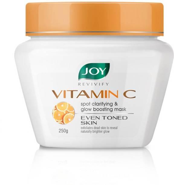 Joy Revivify Vitamin C Face Mask, Spot Clarifying & Glow Boosting Mask With Grapefruit, Tomato, Glycolic, Agran Oil, Calendula & Chamomile, Skin Brightening Face Mask