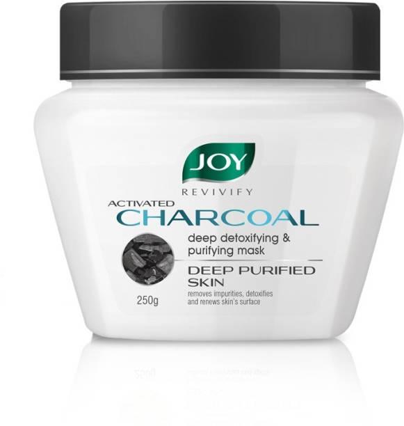 Joy Revivify Activated Charcoal Mask Deep Detoxifying & Purifying With Tea Tree, Apple Cider, Eucalyptus, Vinegar, Bentonite Clay & Charcoal Face Mask - No Parabens